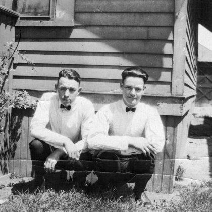 Bob Caudill and Hiram Marcum