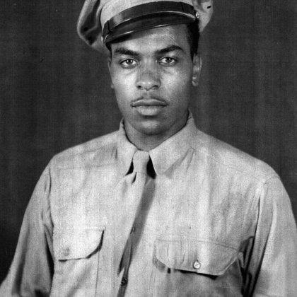 Garnett Clark served WWII by Ethel Martin